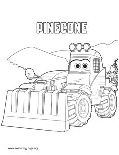 Pinecone is a vehicle equipped with a rake tool. She is a character in the upcoming movie Planes: Fire and Rescue. Have fun with this free Planes 2 coloring sheet!