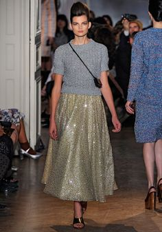 Rochas Spring/Summer 2012. Paris Fashion Week. A collection inspired by the cinema of the fifties.