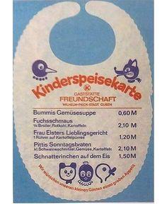 restaurant names war die Bezeichn - restaurant Weird Vintage, Vintage Hippie, Ddr Museum, Good Old Times, East Germany, Good Housekeeping, Woodland Party, Vintage Magazines, Vintage Recipes