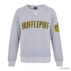 Browse & shop online for Hufflepuff merchandise today. From Hufflepuff robes & jumpers to keychains, you can find it all at the Official Harry Potter shop Harry Potter Sweatshirt, Grey Sweatshirt, Graphic Sweatshirt, Warner Bros Studios, Harry Potter Shop, Harry Potter Outfits, Ravenclaw, Hufflepuff Pride, Hufflepuff Funny