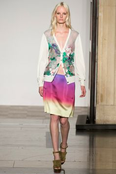 Jonathan Saunders Spring 2014 Ready-to-Wear Collection Slideshow on Style.com We can see it in   Top Shop shop now!