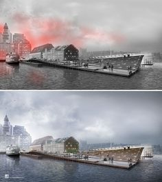 Wharf Design: Foggy Morning Perspective: Part 2 | Visualizing Architecture