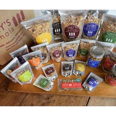 With options ranging from mini bags to 10lb bulk, as well as several different flavors, this handmade granola is a wonderful option for a healthy and fulfilling edible wedding favor for your guests. – Gourmet Wedding Gifts