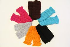 Reserved Listing for Christine -- 3 Pairs of Baby Leg Warmers -- Custom Order. $45.00, via Etsy.