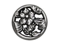 3 Ring Flower Metal Shank Buttons 3/4 inch 19 mm by ButtonJones, $4.00