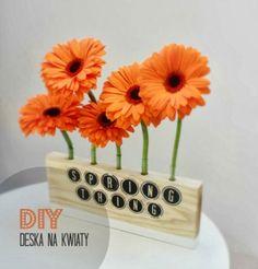DIY deska na kwiaty