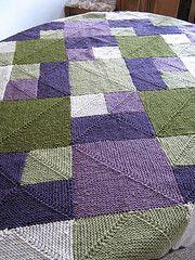 Rambling Rows Blanket Knit by Sheryl K