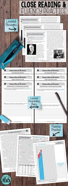 Everything you need for close reading and fluency practice in grades 4-8.  Includes leveled nonfiction reading passages and student responding pages with text-dependent questions.