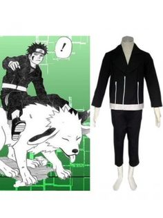 Naruto Shippuden Kiba Inuzuka Second Generation Cosplay Outfits Costumes