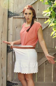 how to wear an old skirt that's way too big