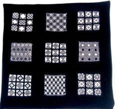 Ravelry: Sanquhar Sampler Cushion pattern by Judy Furlong, free pattern, yarn available from www.silverknitting.co.uk