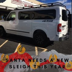 ❄️🎅Santa could use an upgrade this year to better storage and superior durability 👍❄️ Nissan Vans, Nissan 4x4, 4x4 Van Conversion, 4x4 Accessories, Bug Out Vehicle, Four Wheel Drive, Car Stuff, Santa, Storage