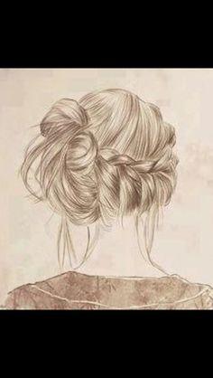 Sketch drawing of nice braid