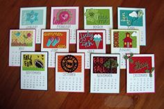 2015 Calendar Cards By: Kendra Wietstock