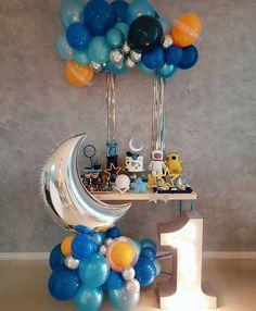 Boys First Birthday Party Ideas, Baby Boy 1st Birthday Party, Party Themes For Boys, Party Like Gatsby, Astronaut Party, Birthday Balloon Decorations, Space Party, Kid Party Favors, First Birthdays