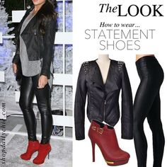 The Look! How to wear statement shoes <3 red booties