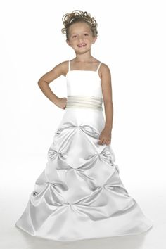Satin A-line,Pleated Style 23 Junior Bridesmaid Dress by Alexia Designs