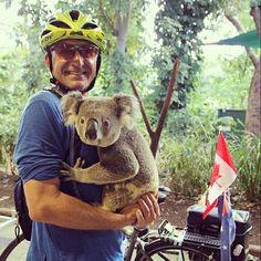 Day 24 - Brisbane to Gold Coast. Rudy holds koala at Currumbin Wildlife Sanctuary :D #glp #gypsyleighproductions #glpstudio #freelancevideography #documentary #documentarydirector #cinematography #videographer #filmmaker #bestjobever #ilovemyjob #cycletour #legendaryrudy #rudypospisil #mylegendarydrive #firefightercycle #cancercycle #cycleforcancer #cyclearoundtheworld #qld #queensland #discoverqueensland #vanlife #vanview #supportcrew #goldcoast #letsroll #currumbinwildlifesanctuary #koala…