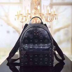 MCM Small Stark Odeon Backpack In Black