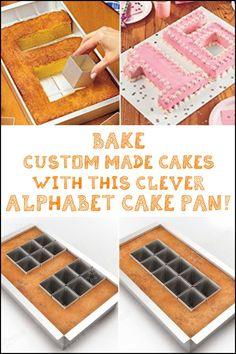 Make awe inspiring cakes easily with this alphabet cake pan!