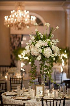 Tall White Wedding Centerpiece - Wedding Diary