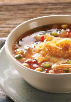 Hearty Mexican Chicken Soup -- With all the flavors of your favorite Mexican dinner in one pot, this will be your new favorite soup recipe. Buying a rotisserie chicken makes this dish come together fast.