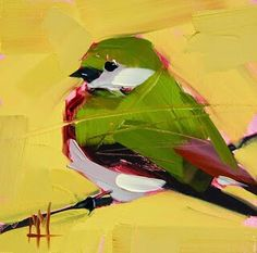 Violet green swallow by Angela Moulton