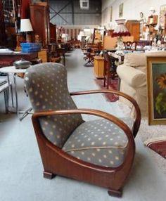 Art deco fauteuil jaren 20 - 30 zetel frame van gebogen hout