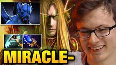 Miracle- [Invoker] VS ComeWithMe [Puck] MiLAN Roaming too good Dota 2
