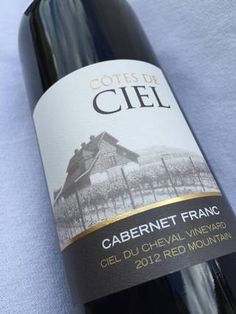 Côtes de Ciel's 2012 Cabernet Franc from Red Mountain won a gold medal at the 2016 Great Northwest Invitational Wine Competition in early October.
