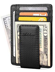 RFID Blocking Protection Soft en Cuir v/éritable Designer Mens Compact Slim Wallet Card Holder Zip Coin Pocket Gift Boxed