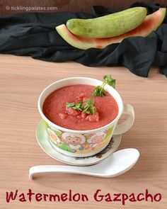 Watermelon Gazpacho | Chilled soup recipes