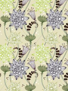 floral - greys