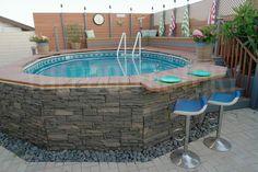 Above Ground Pool Landscaping, Backyard Pool Landscaping, Backyard Sheds, Small Backyard Pools, Small Pools, Swimming Pools Backyard, Small Above Ground Pool, In Ground Pools, Portable Swimming Pools