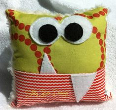 Monster Tooth Fairy Pillow by sillybeedesign on Etsy