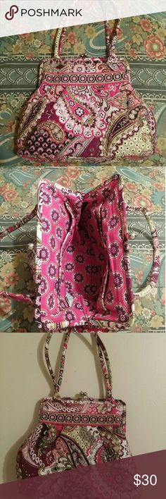 Vera Bradley Very Berry Paisley Measures 15x12x10 in straps.  Like new condition.  Gorgeous Bag! Bags Shoulder Bags