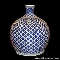 Porcelain Vase, Ceramic Vase, White Porcelain, Ceramic Pottery, Pottery Art, Painted Clay Pots, Vases, Turkish Tiles, Pottery Painting