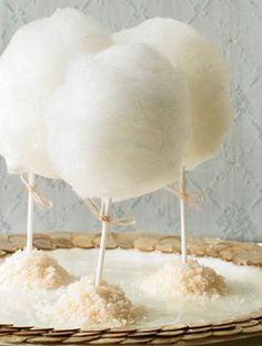Cotton Candy Lollipops | Wedding Sweets