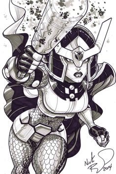 Big Barda by Nick Bradshaw *
