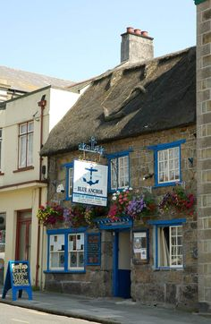 The Blue Anchor - Helston  (by chris_l / cornwalls.co.uk) The Blue Anchor pub - originally a rest house for monks, which became a tavern in the 15th century It is possibly the oldest private brewery in the country and reknown for producing Spingo - an ale of legendary repute and strength! In centuries past, miners received their wages in the pub.
