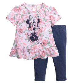 Shirt und Leggings | Hellrosa/Minnie Maus | Kids | H&M DE