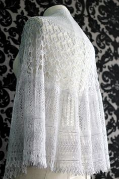 This is a beautiful example of Estonian lace knitting.