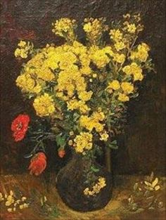 Vincent van Gogh: Vase with Viscaria.  Oil on canvas.  Paris: Summer, 1886.  Currently missing - stolen, August 2010.  Was in Cairo: Mohamed Mahmoud Khalil Museum (Info from vggallery.com)