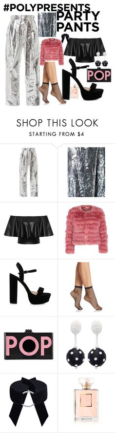 """#PolyPresents: Fancy Pants"" by mila-93d ❤ liked on Polyvore featuring Proenza Schouler, Delpozo, WearAll, Alice + Olivia, Wolford, Edie Parker, Oscar de la Renta, Chanel, contestentry and polyPresents"