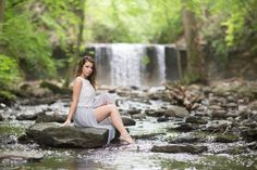Ally - Waterfall - Model Ally at a waterfall