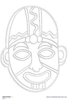 african masks drawings for kids African Art Projects, African Crafts, Tiki Faces, Flat Drawings, Mask Drawing, Aztec Art, Masks Art, Rock Posters, African Masks