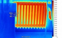 Thermography in heat instalation checking the heat instalation in building