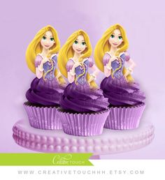 Rapunzel Cupcake Toppers, Princess Rapunzel, Disney Princess, Tangled Birthday, Rapunzel Party, Tangled, Rapunzel Cake Topper, Decoration
