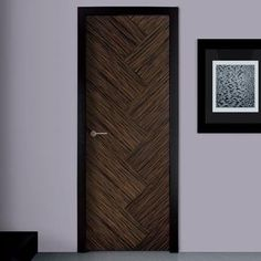 Making careful use of the worlds natural resources and re-using all the waste product to produce the stunning consistent grain within the beautiful prefinished SanRafael Lisa style Ebony. Wooden Main Door Design, Double Door Design, Modern Entrance Door, Modern Door, Bedroom Door Design, Door Design Interior, Flush Door Design, Veneer Door, Classic Doors