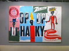 Pop artist Andy Warhol arrives at Max's Kansas City in initiating legendary collaborations with Lou Reed, the Velvet Underground and Jean Michel Basquiat. Jean Michel Basquiat Art, Jm Basquiat, Pop Art, Bold Typography, Life Paint, Art Graphique, Andy Warhol, Keith Haring, American Artists